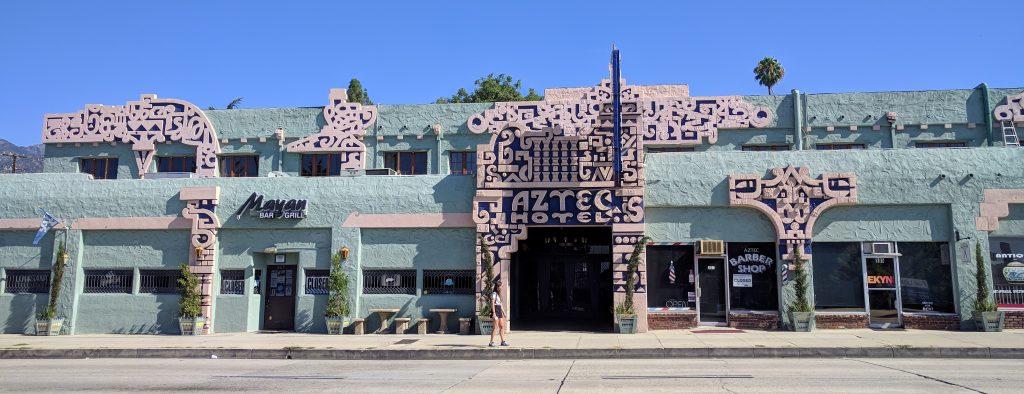 aztec hotel, route 66 in California