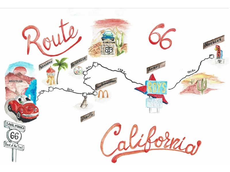 route-66-california-mappa