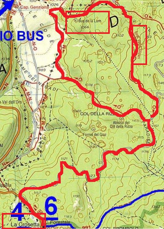mappa cansiglio