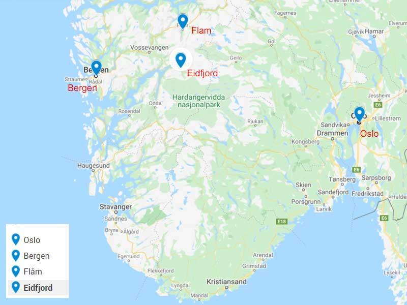 mappa-itinerario-norvegia-6-giorni